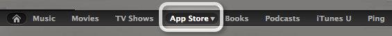 Navigasi iTunes Store