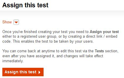 Assign this test