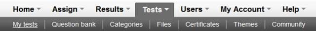 Klik My tests