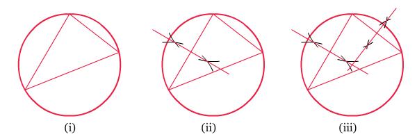 Gambar Menentukan Titik Pusat Lingkaran