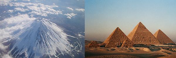 Gunung Fuji dan Piramida Mesir
