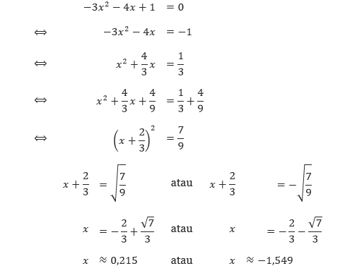 Menyelesaikan Persamaan Kuadrat Dengan Melengkapkan Kuadrat Pendidikan Matematika
