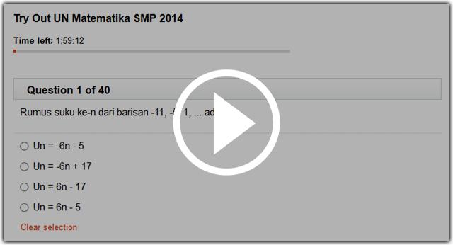Try Out Un Matematika Smp Mts Online Seribu Rumus