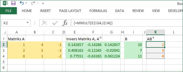 Contoh 1 Excel