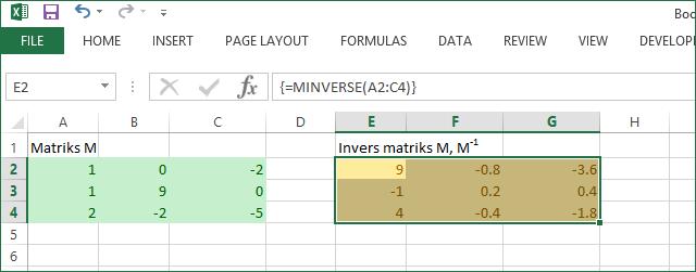 Cara Menghitung Invers Suatu Matriks Contextual Learning