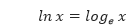 Definisi Logaritma Natural
