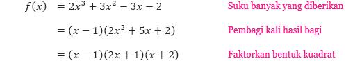 Contoh 5 Pemfaktoran